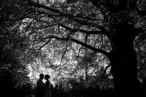 sort hvid foto bryllupsfoto